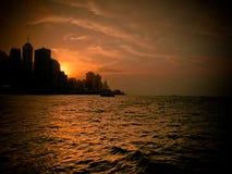Гонконг sunsest Стоковые Фотографии RF