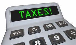 Гонорары бухгалтерии калькулятора слова налогов иллюстрация вектора
