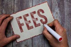 Гонорары текста сочинительства слова Концепция дела для оплаты сделанной к персоне для денег работы оплатила как часть сделки стоковое изображение