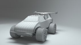 Гоночная машина игрушки Стоковые Фотографии RF