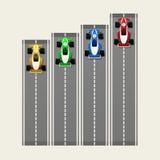 Гоночные автомобили Стоковые Изображения