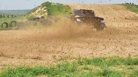 Гоночный автомобиль бежать на высокой скорости Стоковые Фотографии RF