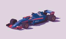 Гоночный автомобиль формулы вектора низкий поли иллюстрация штока