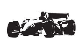 Гоночный автомобиль формулы, абстрактный силуэт вектора Стоковая Фотография