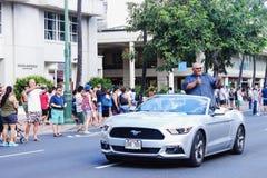 Гонолулу, Гаваи, США - 30-ое мая 2016: Парад Дня памяти погибших в войнах Waikiki Стоковые Фото