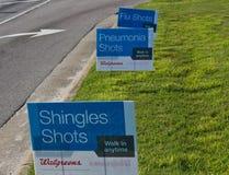 Гонт, пневмони, и знаки прививки от гриппа Стоковая Фотография