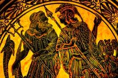 Гончарня Афины Gr реплики Poseiden Нептуна Theseus греческая старая Стоковое фото RF