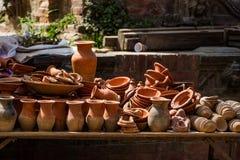 Гончарня и керамика в Непале стоковые фотографии rf