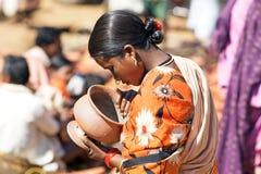 гончарня рынка зоны индийская сельская Стоковые Фото