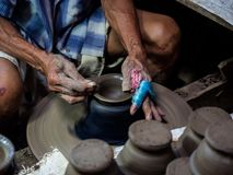 Гончар, скульптор стоковое фото rf