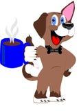 Гончая кофе наслаждаясь своими удовольствиями Стоковое Изображение RF