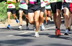 гонщики марафона Стоковое Изображение RF