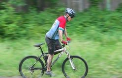 гонщик горы bike Стоковые Изображения RF