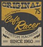 Гонщик кафа - винтажный дизайн мотоцикла Стоковые Изображения RF