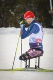 Гонщик лыжи по пересеченной местностей Paralympic Стоковое фото RF