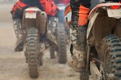 Гонщик motocross группы Стоковое фото RF