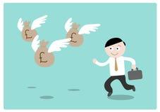 Гонящ деньги (фунт стерлинга) иллюстрация вектора