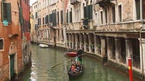 Гондола Венеции на малом канале Стоковое Изображение RF