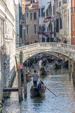 Гондола в Венеции, Италии Стоковое Изображение