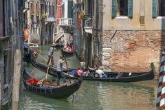 Гондола в Венеции, Италии Стоковые Фотографии RF