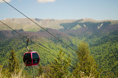 Гондола горы Стоковая Фотография