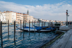 Гондола, канал Венеции, Италии Стоковые Фотографии RF