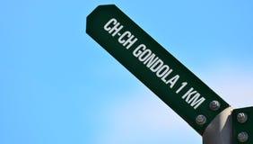 Гондола Крайстчёрча - Новая Зеландия Стоковое Фото