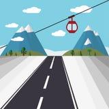 Гондола подъема лыжи Стоковые Изображения