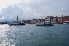 Гондола пристани в Венеции Стоковые Фото