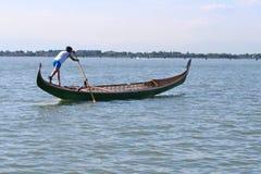 Гондола rowing Стоковые Изображения