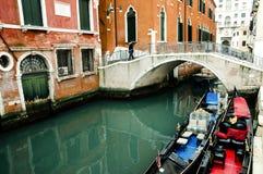 Гондолы - Венеция - Италия Стоковая Фотография RF
