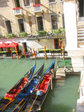 Гондолы Венеция Италия Стоковые Изображения RF