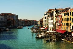 Гондолы в Венеции, Италии, Европе Стоковая Фотография RF