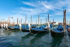 Гондолы в Венеции Италии Стоковые Фото