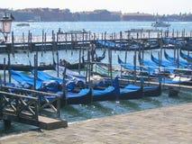 Гондолы в Венеции Италии Стоковые Фотографии RF