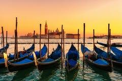Гондолы в Венеции Стоковая Фотография RF