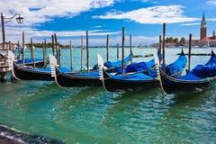 Гондолы в Венеции стоковые изображения rf