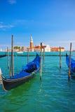 Гондолы в Венеции стоковое фото