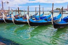 Гондолы в Венеции стоковые фотографии rf