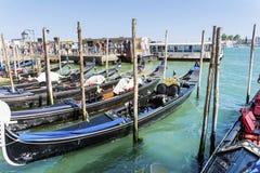 гондолы в море Венеции, Италии Стоковое фото RF