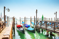 гондолы грандиозная Италия venice канала Стоковая Фотография