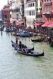 гондолы грандиозный venice канала Стоковое Фото