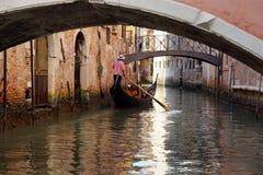Гондолы и каналы в Венеции, Италии Стоковая Фотография