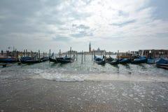 Гондолы на Венеции Стоковое Фото