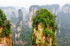 Гора аллилуйя воплощения и другие изумительные утесы, Китай Стоковые Фотографии RF