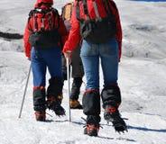 гора альпинистов стоковая фотография