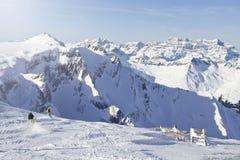 Гора альп швейцарца. Flims, Швейцария. Стоковое Изображение