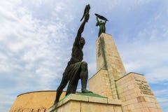 Гора Будапешт Венгрия gellert статуи свободы Стоковые Изображения