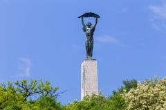 Гора Будапешт Венгрия gellert статуи свободы Стоковые Фотографии RF