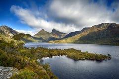 Гора вашгерда от утеса ледника, Тасмании, Австралии Стоковое Фото